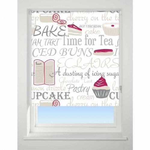 Universal Patterned Blackout Roller Blind - Bake Off Red